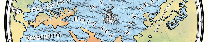 Map of the Seven Seas - Merry Mariner by M. Ray Rempen